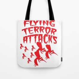 Mosquito Insect Comic Flying Terror Funny Blood Sucker Gift idea Tote Bag