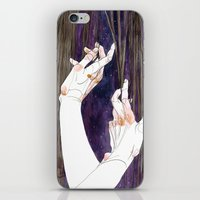 fabric iPhone & iPod Skins featuring Fabric by Jana Heidersdorf Illustration