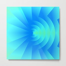 Teal About - An Abstract Metal Print