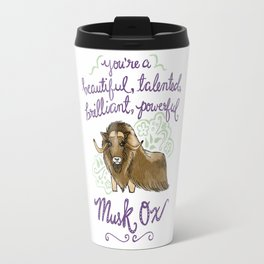 Leslie Knope Compliments: Musk Ox Travel Mug