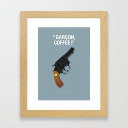 Garçon, Coffee! - Pulp Fiction Fanart Poster Framed Art Print