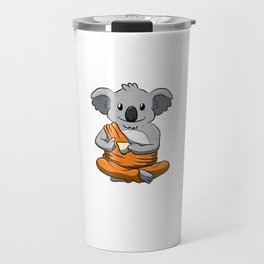 Keep Calm And Love Koalas Shirt Meditation Peaceful Koala Travel Mug