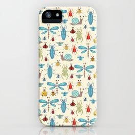 Little Bugs & Mini Beasts on Cream iPhone Case
