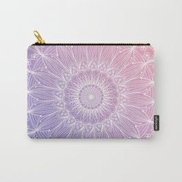 Floral mandala on pastel shades n.1 Carry-All Pouch