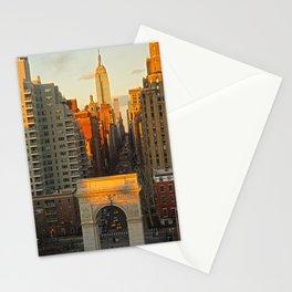 Sunset over Washington Square Park Stationery Cards