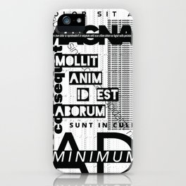 Lorem Ipsum Inverted iPhone Case