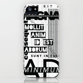 Lorem Ipsum Inverted iPhone Case