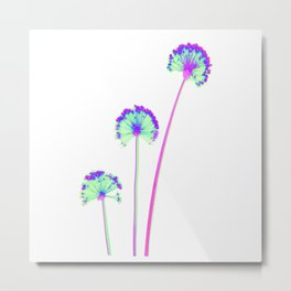 three flowers 3 . blue Metal Print
