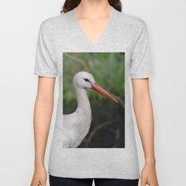 White stork Unisex V-Neck