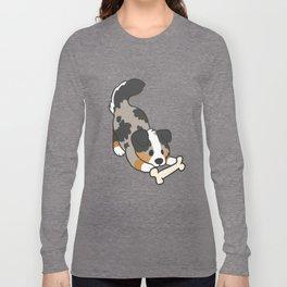 Aussie with Bone Long Sleeve T-shirt