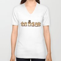 hamster V-neck T-shirts featuring Fancy Hamster by Mr. And Mrs. Inky Hands