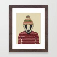 seb the badger  Framed Art Print