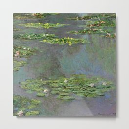 "Claude Monet ""Water Lilies"" (6) Metal Print"