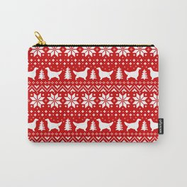 English Setter Silhouettes Christmas Sweater Pattern Carry-All Pouch