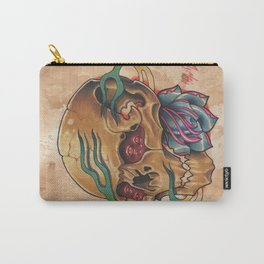 Four Eye Trippy skull thang Carry-All Pouch