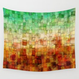 Golden Tide Mosaic Wall Tapestry