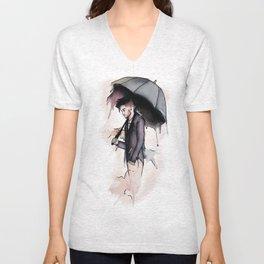 Rainy Watercolor Zayn Unisex V-Neck