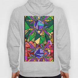 Stained Glass Pot Leaves Hoody