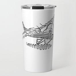Flying Floating Lines Travel Mug