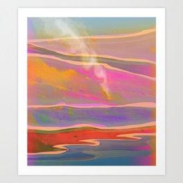 Adventure in the Volcanic Lands - Fumarole Art Print
