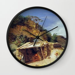 Ferdinand Georg Waldmüller Lime Kiln Hinterbrühl Wall Clock
