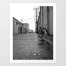 Gritty alleyway Art Print