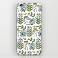 mid century iPhone & iPod Skins featuring Mid Century Danish Bird by MidPark Prints