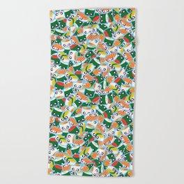 I Love Sushi! Beach Towel