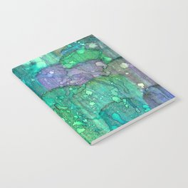 Blue Rain in Abstract Watercolor Notebook
