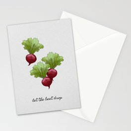 Let The Beet Drop, Food and Drink Stationery Cards