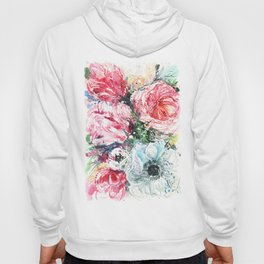 watercolor poppies and tulips Hoody