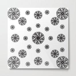 Spiral Pattern Metal Print