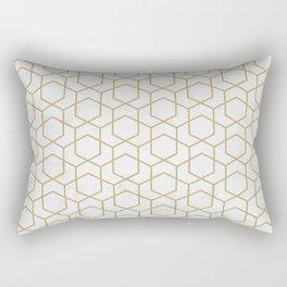 Golden Deco Golden Pattern Rectangular Pillow