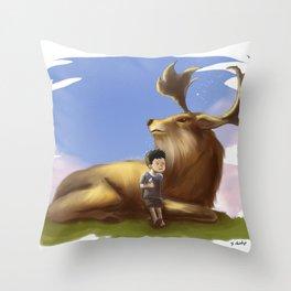 DeerBoy Throw Pillow