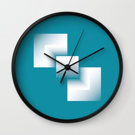 blue energy tower Wall Clock