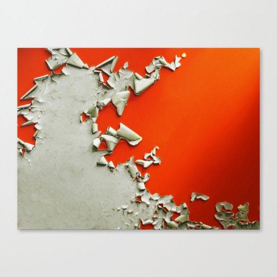 Orange Paper Peel Canvas Print