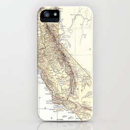 Vintage Map of California (1878)  iPhone Case
