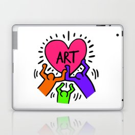 "Keith Haring inspired ""I Love Art"" Secondary Colors edition Laptop & iPad Skin"