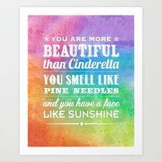 Sunshine Face Art Print