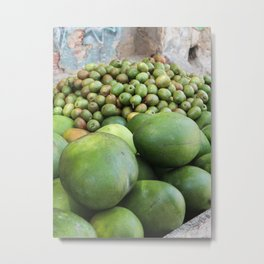 Tropical fruit cart in Cartagena   Colombia   Travel photography   Fine Art   Photo Print    Metal Print