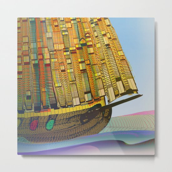 Sailing to the Summer Metal Print