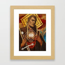Alistair Theirin Cancer Zodiac Card Dragon Age Framed Art Print