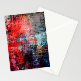Modern  Red Abstract Design Stationery Cards