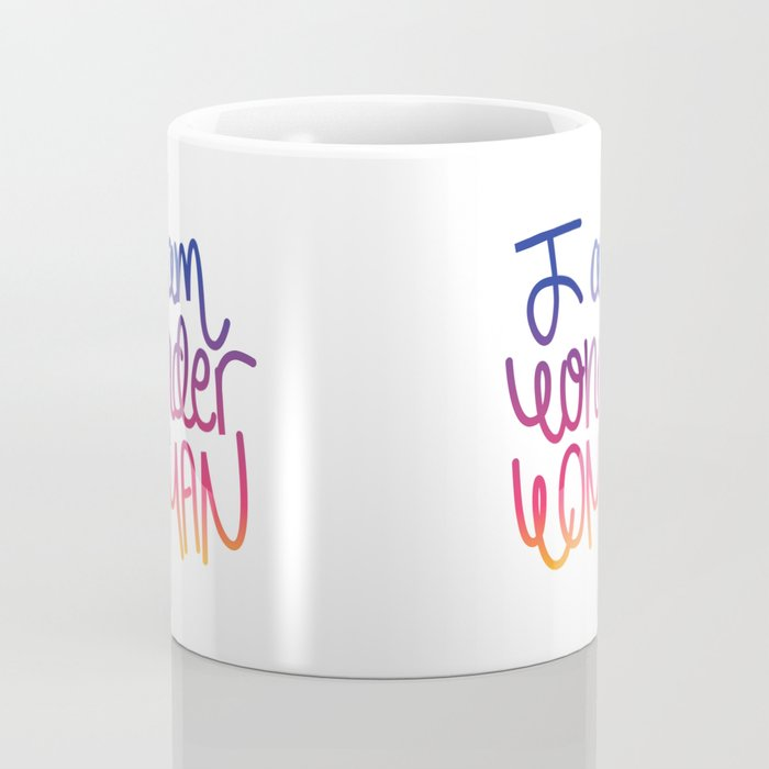 Woman power inspiration quote in a colorful gradient Coffee Mug