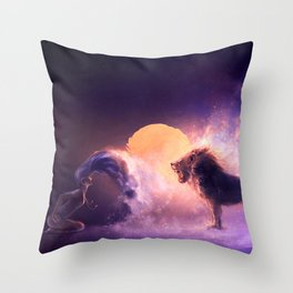 LEO from the Dancing Zodiac Throw Pillow