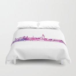 Pardubice skyline city purple Duvet Cover