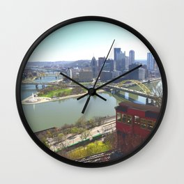 Downtown Pittsburgh point and incline 32 Wall Clock