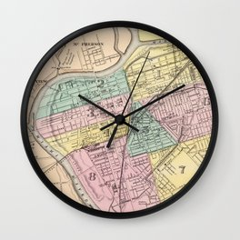 Vintage Map of Dayton Ohio (1872) Wall Clock
