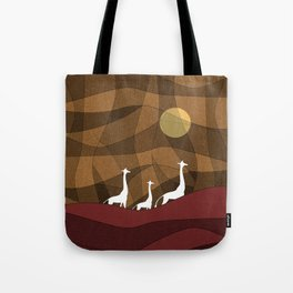 Beautiful warm giraffe family design Tote Bag