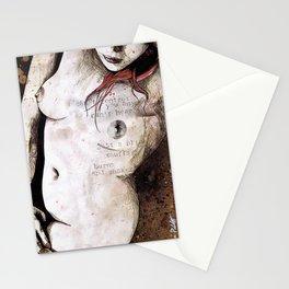 Rotten Apple (nude redhead girl, erotic graffiti portrait) Stationery Cards